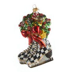 Glass Ornament - Winter Skates
