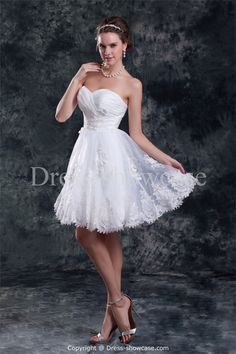 Amazing Rectangle Princess Sweetheart Mini/ Short Wedding Dresses #wedding #weddinggown #weddingdress #dress #fashion #bigday #womenfashion #womenwear #2015wedding