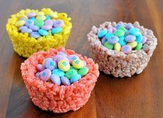 Easter Rice Krispies Cups.