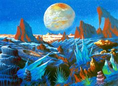 martinlkennedy:  Beautiful new painting by Steve R Dodd The Frozen Gardens of Pluto only his second new painting in decades. Thanks again to Steve for sending this to me.