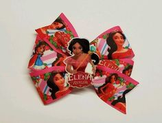 2 Princesa Elena Inspired Hair Bows/ Boutique Pigtail Bows    #Unbranded