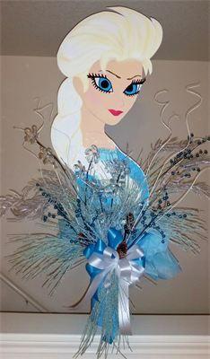 Frozen Party : Frozen Party- Elsa Centerpiece- Handpainted