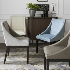 Curved Upholstered Chair #westelm