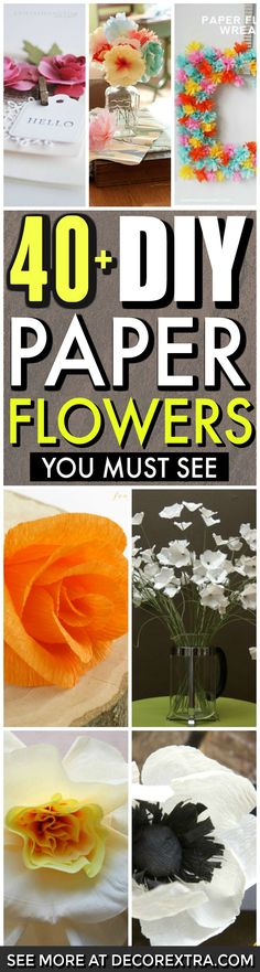 DIY Paper Flowers, How to make paper flowers