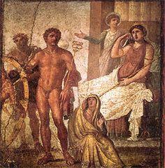 Pintura mural de la Casa de los Vetti (Pompeya).