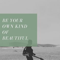 "As we work and work throughout the day we may forget what's important so here's a mid day reminder: ""be your own kind of beautiful"" Be Your Own Kind Of Beautiful, Planners, This Is Us, Forget, Day, Movie Posters, Film Poster, Address Books, Film Posters"