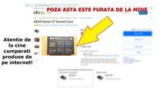 Poza mea facuta la placa de sunet externa 7.1 Asus Xonar U7 este pe eBay My Love, Ebay, Beast