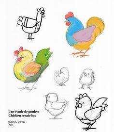 Poules et poussins