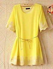 Women's Fashion Chiffon Short Sleeve Dress – USD $ 23.79