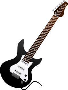 Black Electric Guitar Design