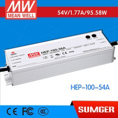 1MEAN WELL original HEP-100-54A 54V 1.77A meanwell HEP-100 54V 95.58W Single Output Switching Power Supply #Affiliate