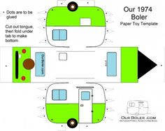 boler trailer paper toy template color