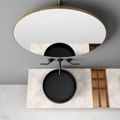 Elisa Ossino Studio Designs Multifunctional Elementi System for Boffi New Interior Design, Interior Design Magazine, Parachute Home, Boffi, Bathroom Bath, Bathrooms, Multifunctional, Kitchen And Bath, Ceiling Lights
