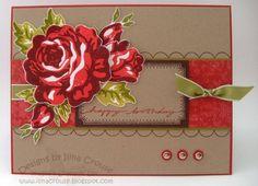 Birthday Rose- casing myself