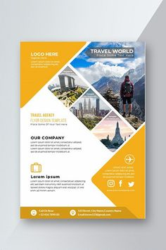Travel Agency Flyer Design Template#pikbest#templates Graphic Design Flyer, Design Brochure, Design Poster, Flyer Design Templates, Business Flyer Templates, Creative Advertising, Creative Flyers, Advertising Design, Flyer Design Inspiration