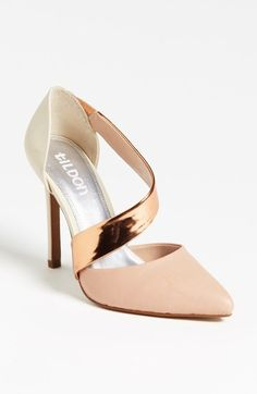 Killer heel. White, gold, & blush.