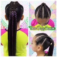 Mira lo que se viene para el vídeo de la semana --------------------------------------------- #braids #braidstyle #hair #hairstyle #ilovebraids #braidsforgirls #instagood #girly #instabraid #braidpage #instahair #cute #trenzas #hairstyles #braidlife #gorgeous #daughter #braidideas #happy #love #hairoftheday #hudabeauty #photooftheday #brisbane Black Girl Braids, Girls Braids, Cool Braid Hairstyles, Girl Hairstyles, Types Of Braids, Hair Dos, Hair Type, Natural Hair Styles, Dreadlocks