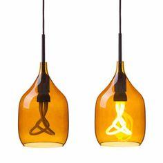 Bestel Nu Online Bij SOOO.nl: De Design Hanglamp Vessel Van Amber Kleurig  Glas