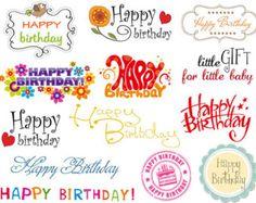 Instant Download Digital Birthday Clip Art by OneStopDigital