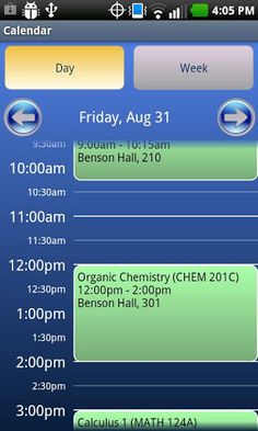 Sched-U allows you to manage your terms, courses, assignments, and exams. It includes easy-to-use day and week views, reminders for classes and exams, and an in-class auto-silence feature.Download Sched-U today and start organizing your college courses on your phone.