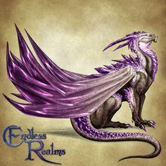 Endless Realms bestiary - Amethyst Dragon by jocarra on DeviantArt Dragon Rpg, Fantasy Dragon, Fantasy Rpg, Mythical Creatures Art, Fantasy Creatures, Crystal Dragon, Dragon Artwork, Dragon Drawings, Beautiful Dragon