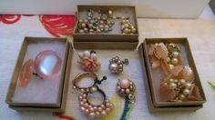 Vintage Earrings Moon Glow & Cluster Mixed Lot Wearable & Repurposing