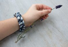 French knitted wool bracelet by LaMauvaiseGraine on Etsy, €8.80