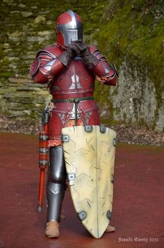 Leather covered fantasy-armour