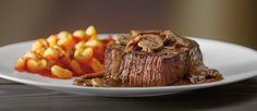 Sirloin Marsala - Wood-grilled and topped with mushrooms and our Lombardo Marsala wine sauce.