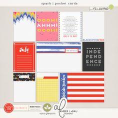 Spark | Pocket Cards for digital or paper scrapbooking.