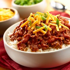 Fast 'N Easy Chili: Especially festive when served with bowls of colorful toppings and tortilla chips. #chili #recipe