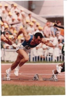Pietro Mennea, the 1980 Moscow Olympic 200 meter Champion. Born 28 June died 21 March he also held the 200 m world record for 17 years with his time of Lake Placid Olympics, Wells, Fastest Man, Dynamic Poses, Olympic Sports, Marathon Running, Male Poses, World Of Sports, Sports Art