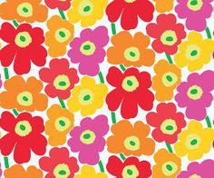 Marimekko Marimekko Pieni Unikko II Wallpaper Pink/Orange - KIITOSlife - 1