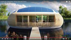 Дом на воде, сферические дома Architecture Durable, Floating Architecture, Green Architecture, Sustainable Architecture, Sustainable Design, Futuristic Architecture, Futuristic Houses, Pavilion Architecture, Residential Architecture