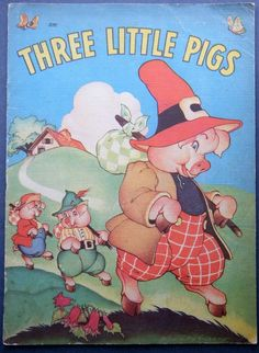 'Three Little Pigs', illustrated by Eileen Fox Vaughan. 1941 Whitman Publishing