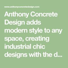 Anthony Concrete Design adds modern style to any space, creating industrial chic designs with the distinct character of concrete. Concrete Wall Panels, Board Formed Concrete, Smooth Concrete, Concrete Casting, Concrete Stairs, Concrete Fireplace, Concrete Color, Concrete Design, Fireplace Ideas