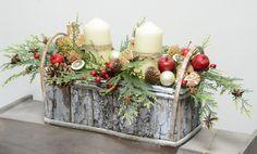 Świąteczna kompozycja w stylu rustykalnym w UroczyskoArt na DaWanda.com