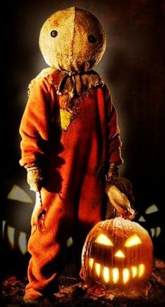 its Sam! The most adorable sweetest little ghoulie from Trick r Treat! Dont blow out the candle in your jack o lantern on Halloween night unless you want a visit from this little charmer Halloween Photos, Halloween Movies, Halloween Horror, Scary Movies, Holidays Halloween, Spooky Halloween, Vintage Halloween, Halloween Pumpkins, Happy Halloween