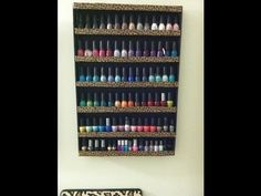 nail polish foam board rack