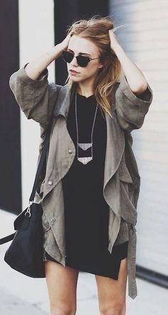 #fall #fashion / military chic