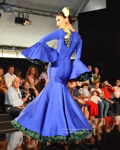 Semifinal Noveles We Love FLamenco 2017 Peplum, Blues, Aurora Sleeping Beauty, Fashion Dresses, Prom, Gowns, Disney Princess, Spain, Inspiration