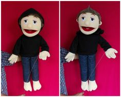 Cheer your child's day: Mas Bro moveable mouth puppet handmade