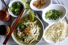 chicken pho by smitten, via Flickr  I'm unlikely to do all these steps, or any of them while I live so close to Argyle.