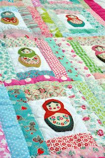 "Matryoshka doll quilt - made by ""baby burrito quilts"""