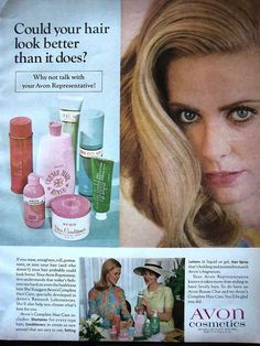 1967 Avon Cosmetics Hair Conditioner Creme Rinse Makeup Ad