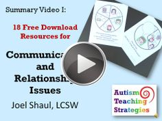 This video, the first in a series, summarizes 18 free social skills download resources from autismteachingstrategies.com.