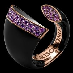 De Grisogono Black Bell Collection - Pink gold- carbon-amethysts