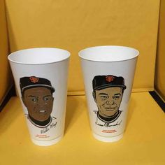 2abaed383a6 Cool item: 1972 Mays/Juan S.F.Giants Slurpee Cups Slurpee, Cool Stuff,