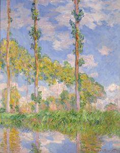 Claude Monet (Paris, 1840 - Giverny, 1926) : Poplars in the Sun