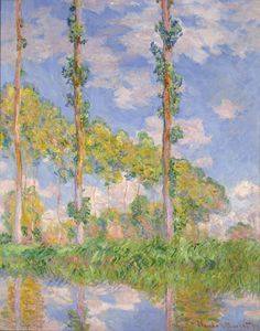 Claude Monet (Paris, 1840 - Giverny, 1926) : Poplars in the Sun